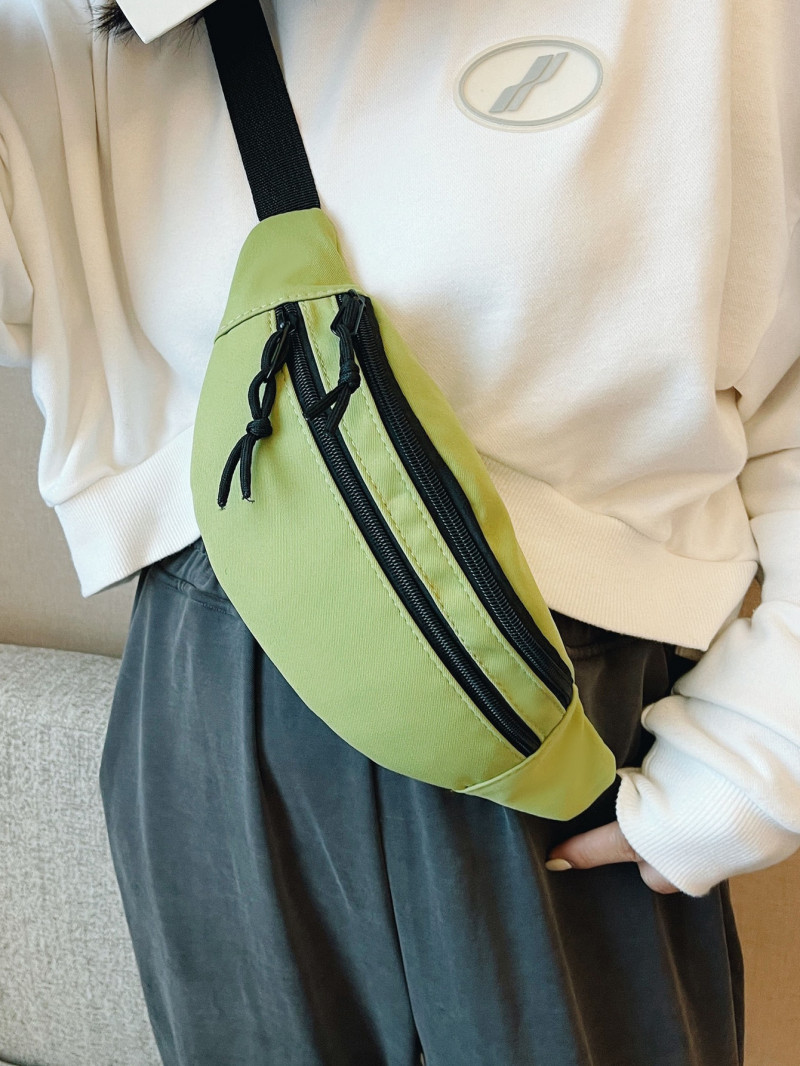 Shein Double Zip Front Fanny Pack